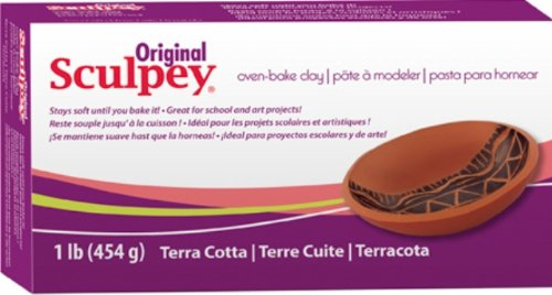 Sculpey S01T Original Oven Bake Clay-Terra Cotta, 1 Pound Polyform Products