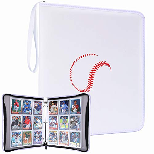 Collectors Baseball Card - DRZERUI Carrying Case Compatible with Baseball Trading Cards, Sport Cards Collectors Album with 30 Premium 9-Pocket Pages, Holds Up to 540 Cards