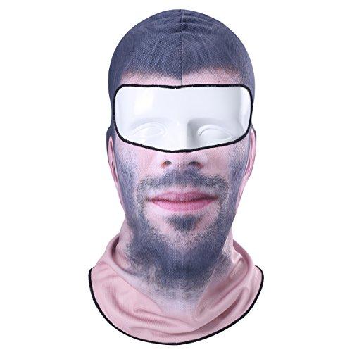 Eskimo Costume Male (Man Winter Clown Snowboard Paintball Snowboard Biker Neck Warmer Helmet Hats Full Face Mask Mts)