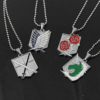 ANDP Cosplay Halskette von Attack on Titan Training Corps Inspiriert / Stationiert Corps / Recon Corps / Military Police , Blau