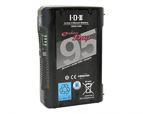 IDX DUO-C95 93Wh Li-Ion V-Mount Battery w/2x 50W D Taps and USB by IDX