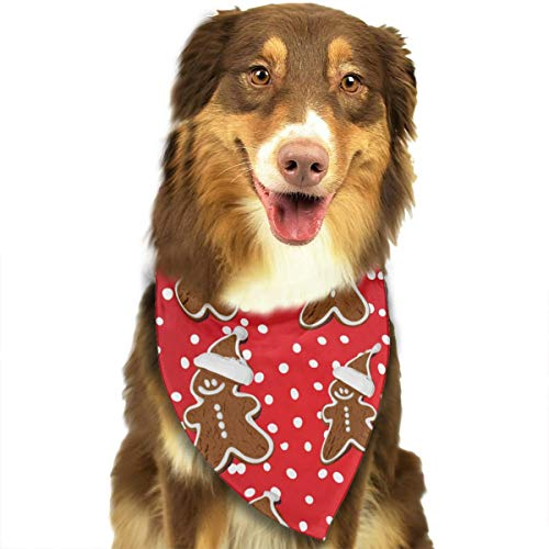 (OURFASHION Gingerbread Man Bundle Bandana Triangle Bibs Scarfs Accessories for Pet Cats and Puppies.Size is About 27.6x11.8 Inches)