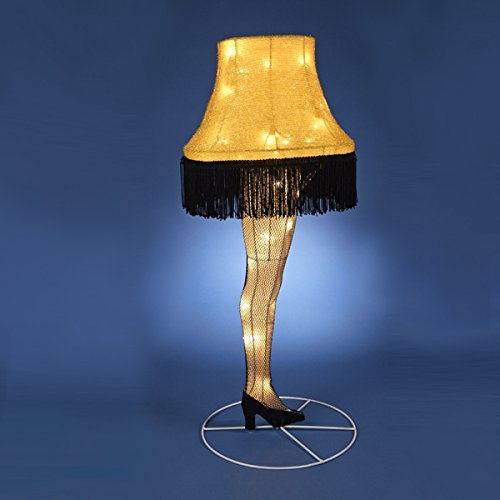 Outdoor Christmas Story Leg Lamp in Florida - 1