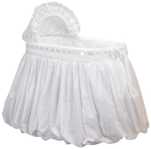Baby Doll Bedding Pretty Ribbon Bassinet Bedding Set, White by BabyDoll Bedding