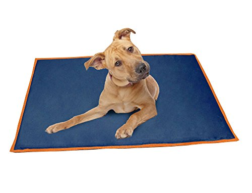 ABO Gear 24 by 42-Inch Pet Cooling Bed, Large, Navy/Orange