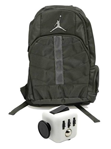 Nike Air Jordan Boys Black Mesh Overlay 23 Backpack Book Bag + FREE FIDGET CUBE