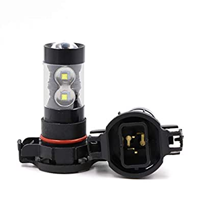 Replacement Super Bright 6000K White 2504 12276 PSX24W LED Bulbs High Power 50W CREE LED PSX24W Bulb for Fog Light: Automotive