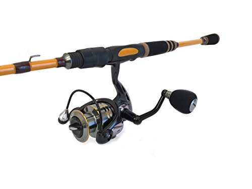 Wild Water Fortis 3000 Spinning Rod & Reel Package (2 Piece), 7', Butterscotch, (Forte Butter)