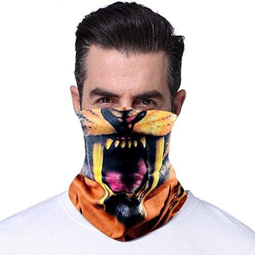 QINJLI マスクに乗る 防風日焼け止め汗吸収性抗UVシームレス多機能スカーフリストバンドヘッドバンドよだれかけ乗馬アウトドアスポーツ