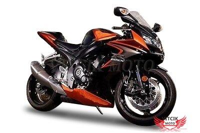 VITCIK (Fairing Kits Fit for Suzuki GSX-R750 GSX-R600 K6 2006 2007 GSXR 600 750 K6 06 07) Plastic ABS Injection Mold Complete Motorcycle Body Aftermarket Bodywork Frame (Orange & Black) A173