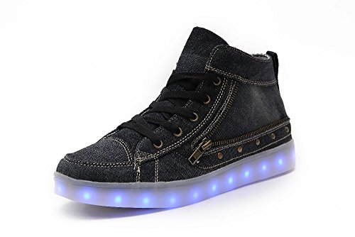Idea Frames Women LED Shoes chargebale high top canvas boots