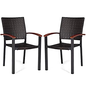 41qeiEPsOBL._SS300_ Wicker Dining Chairs & Rattan Dining Chairs