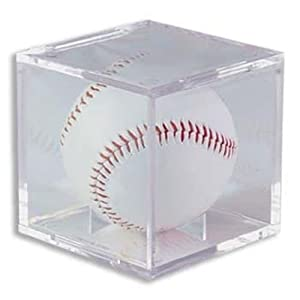 BallQube Brand Grand Stand Baseball Display Case Cube - Holder with built in stand