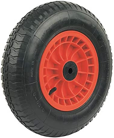 """250mm 10/"""" wheel rubber tyre with pressed steel centre 25mm 210kg"""