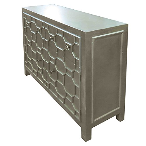 New Pacific Direct 2100005-AC Silvestro Distressed 2 Drawers + 2 Doors Sideboard, Antique Champagne (Distressed Sideboards)