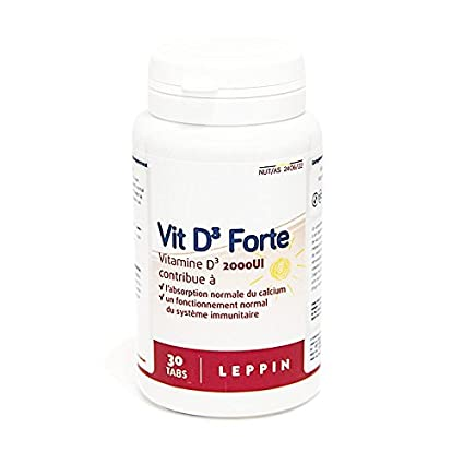 D3 Forte 2000ui 30 comprimés – Vitamina D Ultra concentrée – imunité