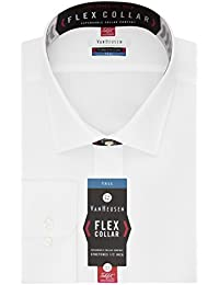 Big and Tall Mens Dress Shirts Tall Fit Flex Solid Spread Collar