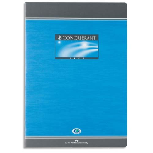 Oxford Office Conquérant Sept 100103881 Homework Book with Large Squares 17 x 22 cm / 48 Pages Assorted Pack of 25