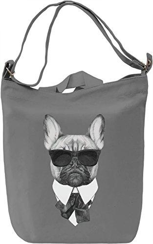 French bulldog karl Borsa Giornaliera Canvas Canvas Day Bag| 100% Premium Cotton Canvas| DTG Printing|