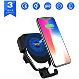 Wireless Car Charger,Air Vent Phone Holder Gravity,Wireless Car Charger Mount Vent Holder,Car 10w Charger,Qi Enabled Devices, Qi Fast Charger for Samsung Galaxy S9 Plus/S9, S8 Plus/S8, S7/S7 Edge