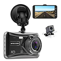 Apexcam Dash Cam Front and Rear Lens 4 IPS 1080P FHD Driving Recorder 170°Wide-Angle Cars Dashboard Backup Camera G-Sensor WDR Loop Recording DVR Parking Monitor Motion Detection Night Vision