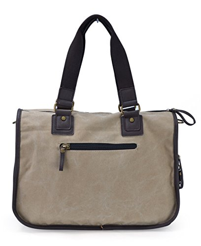 Gootium 20319F Canvas Messenger Bag,Perfect Fit Laptop Bags, Khaki