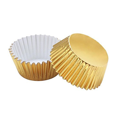 Baking Cups Cupcake Liners Baking Cups for Cupcakes Paper and Muffins, 50-Count, Standard (Bright Gold) SK