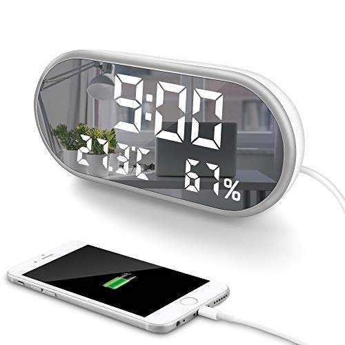 MOONORN LED Digital Alarm Clock, 6.5
