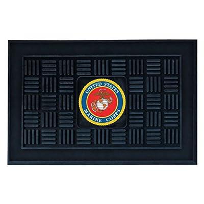 Fanmats Military 'Marines' Medallion Door Mat