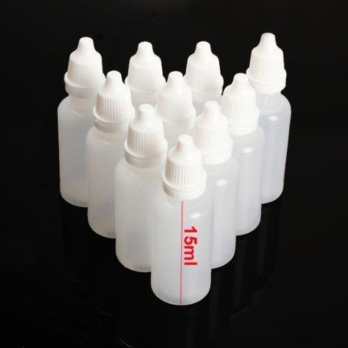 TOOL GADGET® Plastic Dropping Bottles Vial of Liquid Eye Liquid Dropper, 15ml, 12 pack (Liquid Polyethylene)