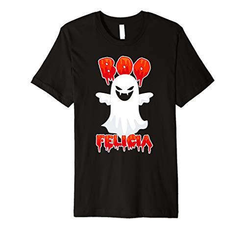 Boo Felicia T Shirt Halloween Trick or Treat Funny Ghost Tee -
