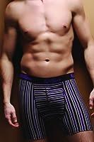 Kickers - 1 paire de boxers hommes de coton, X-Large, des rayures violettes (purple stripe)