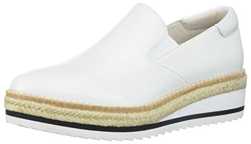 Kenneth Cole New York Women's Rainer Platform Slip On Espadrille With Sporty Outsole Oxford, White, 8.5 Medium US by Kenneth Cole New York