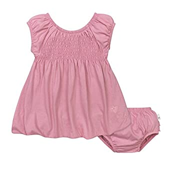 Amazon Burt s Bees Baby Baby Girls Organic Smocked