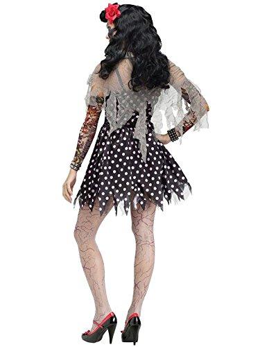 Rockabilly Costume Women (Rockabilly Zombie Adult Costume (Small/Medium))