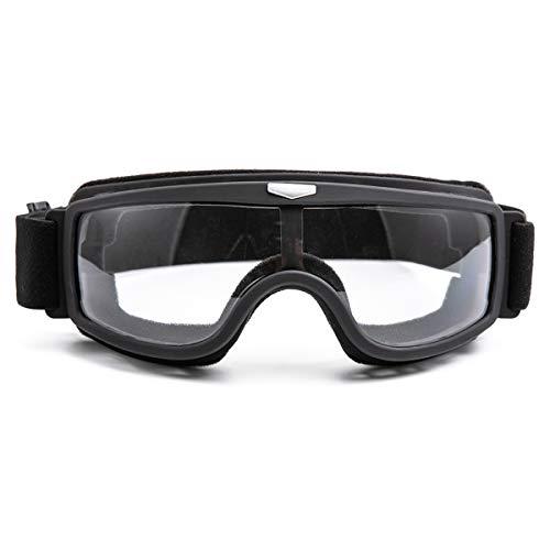 evomosa Crossbrille Motocrossbrille Schutzbrille Motocross Goggle Winddicht Staubdicht Brille Motocross (Black Frame…
