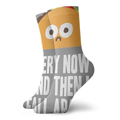 YUANSHAN Socks Taco Every Now and Then I Fall Apart Women & Men Socks Soccer Sock Sport Tube Stockings Length 11.8Inch]()