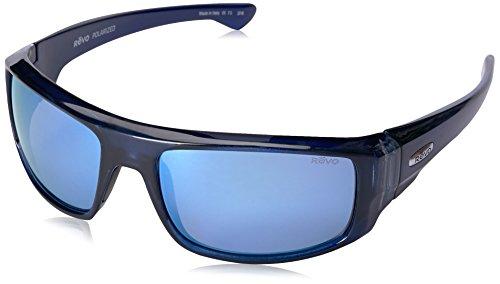 Revo Re 5006x Dash Wraparound Polarized Wrap Sunglasses, Crystal Blue Blue Water, 60 - Blue Revo Sunglasses