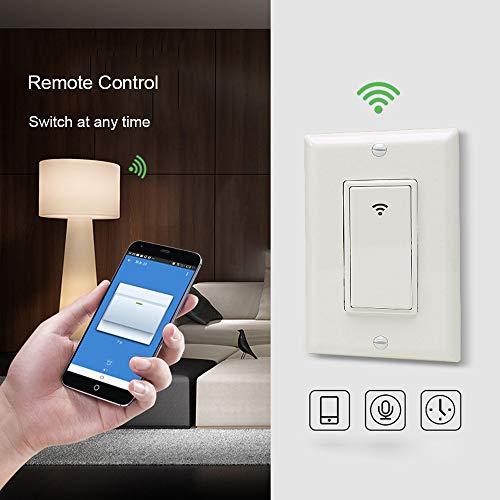 WiFi Smart Light Switch US Plug 2000W Wireless Remote Contro