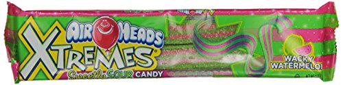 Airheads Xtremes Sour Candy, Watermelon, 2 Ounce (Pack of 18)