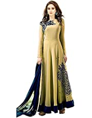 Neerav Exports Women Georgette Semi Stiched Gown