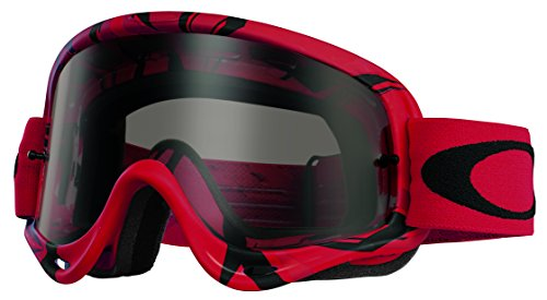 Oakley O-Frame MX Intimidator Goggles (Red/Black Frame/Dark Grey - Goggles Oakley