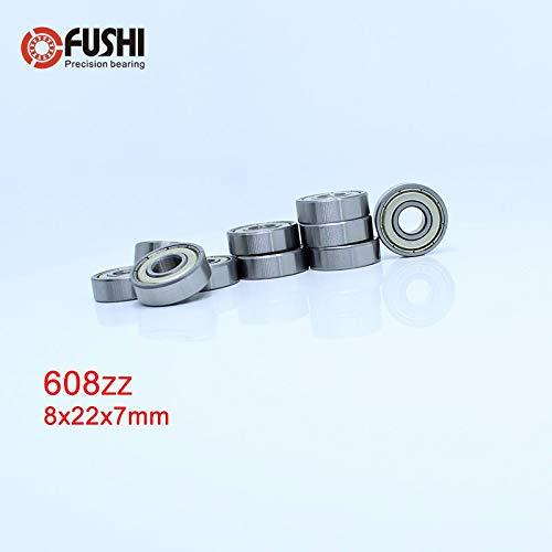 20pcs 608ZZ 608Z 608 2Z 8x22x7mm Deep Groove Ball Bearing Mini Bearing 8*22*7