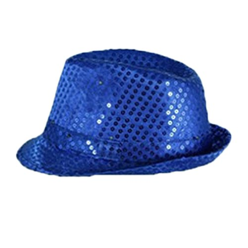 LED Flashing Silver Sequin Jazz Hat Party Novelty Costume Bling Hats (Pictures Of Jazz Dance Costumes)