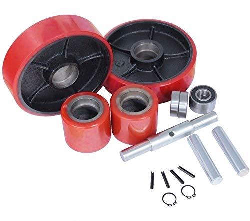 (Replacement Wheel Kit for Manual Pallet Jack 20mm ID Bearings 7