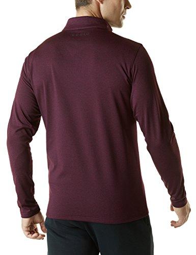 TSLA Men's Winterwear Sporty Slim Fit 1/4 Zip Fleece Lining Sweatshirt