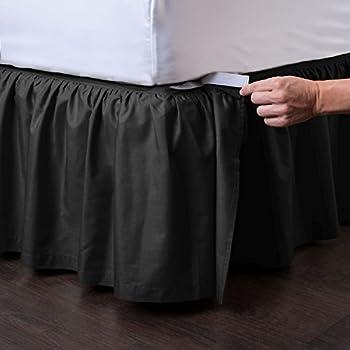 Amazon Com Ashton Detachable Bedskirt Queen Size Black