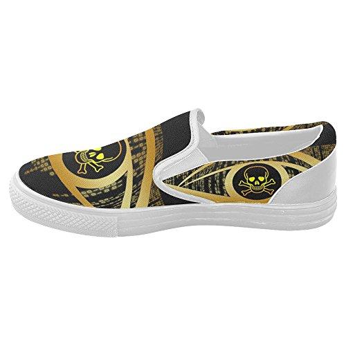 InterestPrint skull Slip-on Canvas Shoes for Women g0q2j