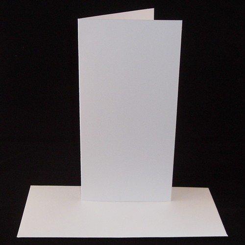 50 Pack - DL White Card Blanks & Envelopes - UK Card Crafts