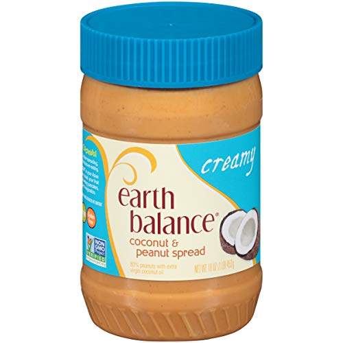 Earth Balance Gluten Free Vegan Peanut Butter, Creamy Coconut, 16 Ounce ()